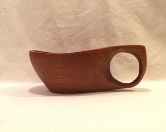 Hand Cared Teak Wood Cup/Scoop/Ladle/Bowl/Vessel Made in Thailand
