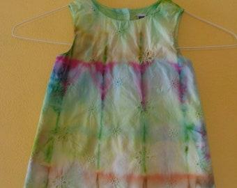 Girl's dress. Tie dye dress. Kid's tie dye. Tie dye for girls. Gift for her. Casual dress.