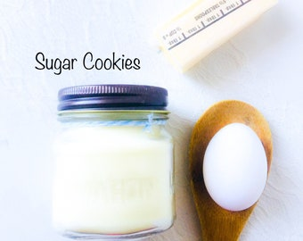 Sugar Cookies Soy Candle - Scented Candles - Soy Candles - Candles Handmade - Christmas Candle - Holiday Candle - Bakery Candle - Baker Gift