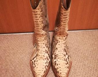 original unisex Marlboro python cowgirl/boy boots