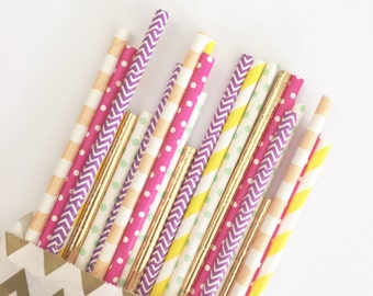 Pool Party straw mix//paper straws, straws, party decorations, party supplies, wedding, birthday party, baby shower, bachelorette party