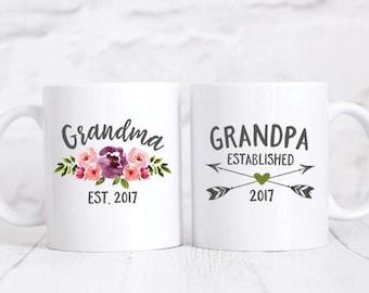 Pregnancy Announcement Grandparents Grandma Mug Baby Announcement Grandparents Pregnancy Reveal to Grandparents Gift New Grandparents Mugs