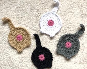 Crochet Cat Butt Coasters, Crochet Coffee Coasters, Set of 4 Coasters, Crochet Coasters, Housewarming Gift, Teacher Gift, Home Decor