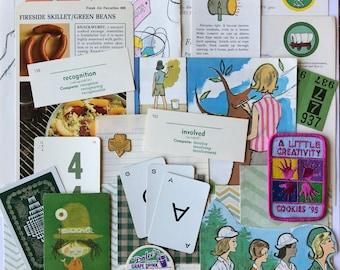 A Little Creativity Girl Scouts, Scouting, GSA, 25 Pieces, Vintage Paper, New Paper, Junk Journal, Scrapbook, Planner, Cadette, Junior