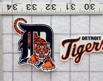 DETROIT TIGERS Iron-on no-sew Fabric Appliques set #2