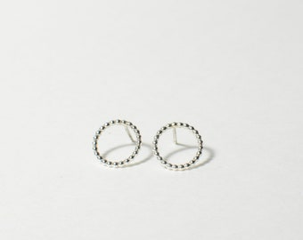 Small PERLISIENNE Circle earrings - Sterling Silver Jewelry - Silver Hoops