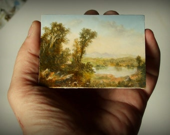 Original ACEO Miniature Landscape Painting by David Smith