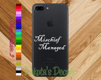 Mischief Managed Phone Decal