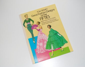 "Tom Tierney Paper Dolls ""Great Fashion Designs of the Fifties"" 1985 Complete Uncut"