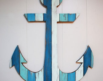 Painted Anchor Wall Art 29""