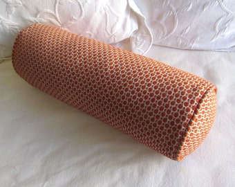 7x20  pumpkin chenille decorative Bolster Pillow