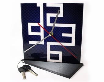 "Clock table ceramic ""Graphics"", gift, inexpensive, watches, design, exclusive, buy"