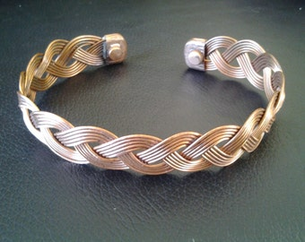 Copper Magnetic Health Band Bracelet - maori weave