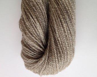 067 Handspun Natural Pale Gray Romney Yarn
