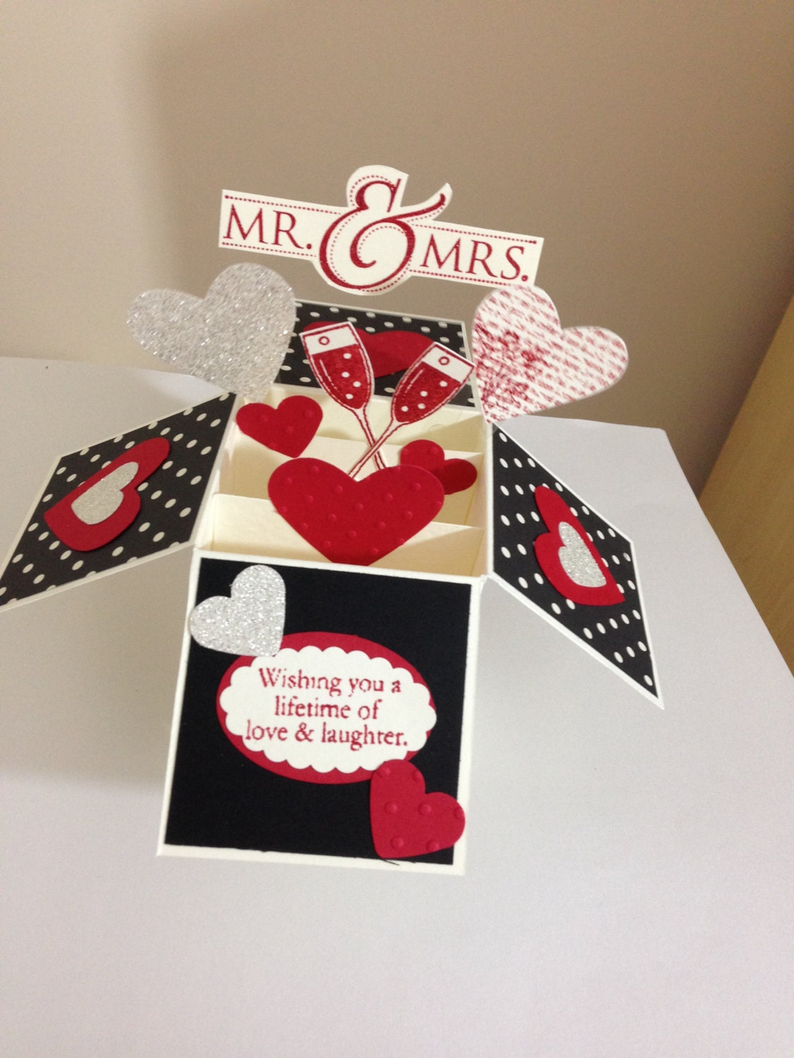 Wedding card in a box handmade anniversary card zoom thecheapjerseys Image collections