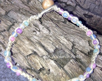 Hemp Pastel Beaded Bracelet