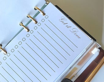 Get it done inserts/Lists/Printed planner inserts/Personal inserts