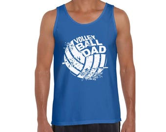 Volleyball Dad Tank Tops Tank Top Fathers Day Gift for Dad Volleyball Player Best Dad Ever