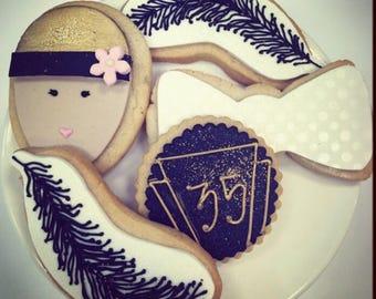 Roaring Twenties Birthday Cookies