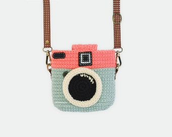 Crochet Case for Fuji Instax Camera - Lomo Camera/ Mint - Chocky Pink Color