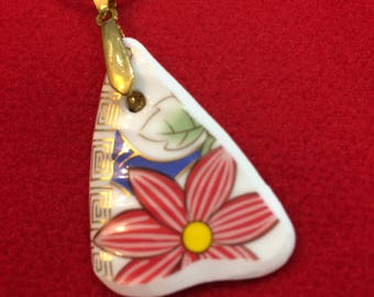 Vintage China Pendant Jewellery Wearable Art