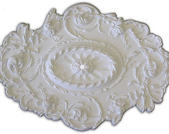 "30"" by 20"" Ceiling Medallion for Chandelier or Fan. Available in many Finishes or Custom Color."
