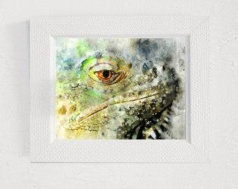 Lizard art print Animal painting Printable wall art decor Digital print Art pictures Digital illustration Wall print artwork Watercolor art