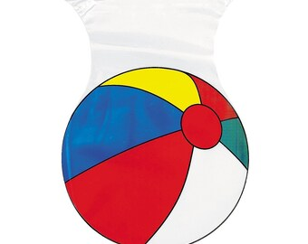 Beach Ball Shaped Party Favor Treat Cello Bags with Ties