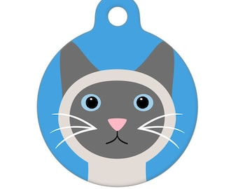 Pet ID Tag - Blue Point Siamese Cat Pet Tag, Dog Tag, Cat Tag