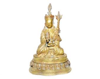 18th /19th Century Antique Chinese Gilt Bronze Buddha
