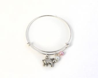 Pig Bracelet, Pig Lover Bracelet, Pig Lover, Pig Lover Gifts, Barn Animal Gifts, Farm Gifts, Pig Jewelry, Farm Animal Bracelet, Farm Animals
