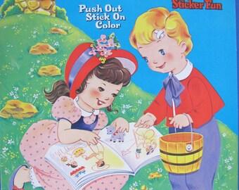 Vintage Mother Goose Sticker Fun Book Mint Un-circulated