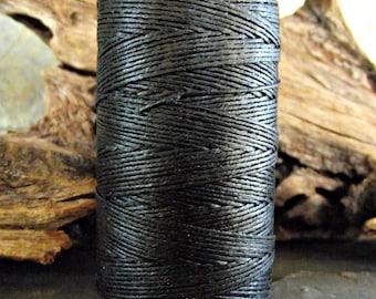 3 Ply Black Waxed Irish Linen Thread 10 Yards WIL-25,3 ply linen thread,black linen thread,waxed linen thread,bookbinding thread,vodabeads
