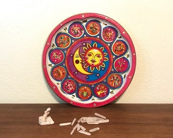 Retro Zodiac Astrology Metal Tray by Daher Decorated Ware Made in England
