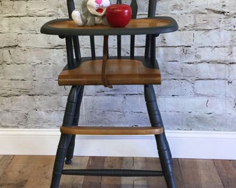 Hitchcock/Vintage Wooden High Chair, Jenny Lind, Antique High