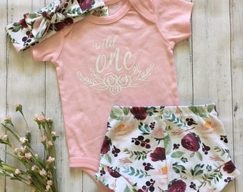 NEW! Wild ONE Birthday/ Infant Shorties Set/Toddler Shorties Set