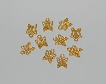 20 Butterfly style colour Tibetan antique gold