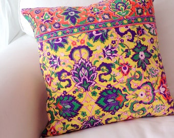 C78 Cotton - coin's summer cushion cover . tribal color cushion cover