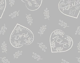 Dove House from Lewis & Irene LTD, Grey Hearts with Text, yard