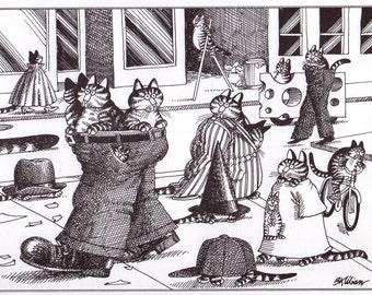 Kliban Cat Print Original Vintage Art Best Quality Prints On Etsy