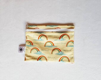 Hands Free Belt Bag Rainbow Print, Ready to Post, Belt Bag, Fanny Pack, Bum Bag, Hip Bag, Hip Pouch, Babywearing Pouch, Babywearing Bag