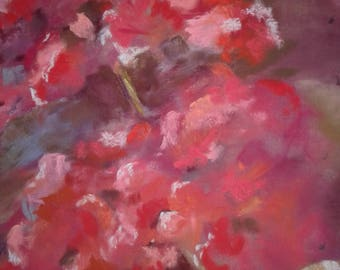 Original Pastel Painting of  a crepe myrtle