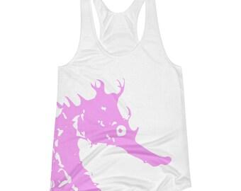 Pink Seahorse Women's Racerback Tank