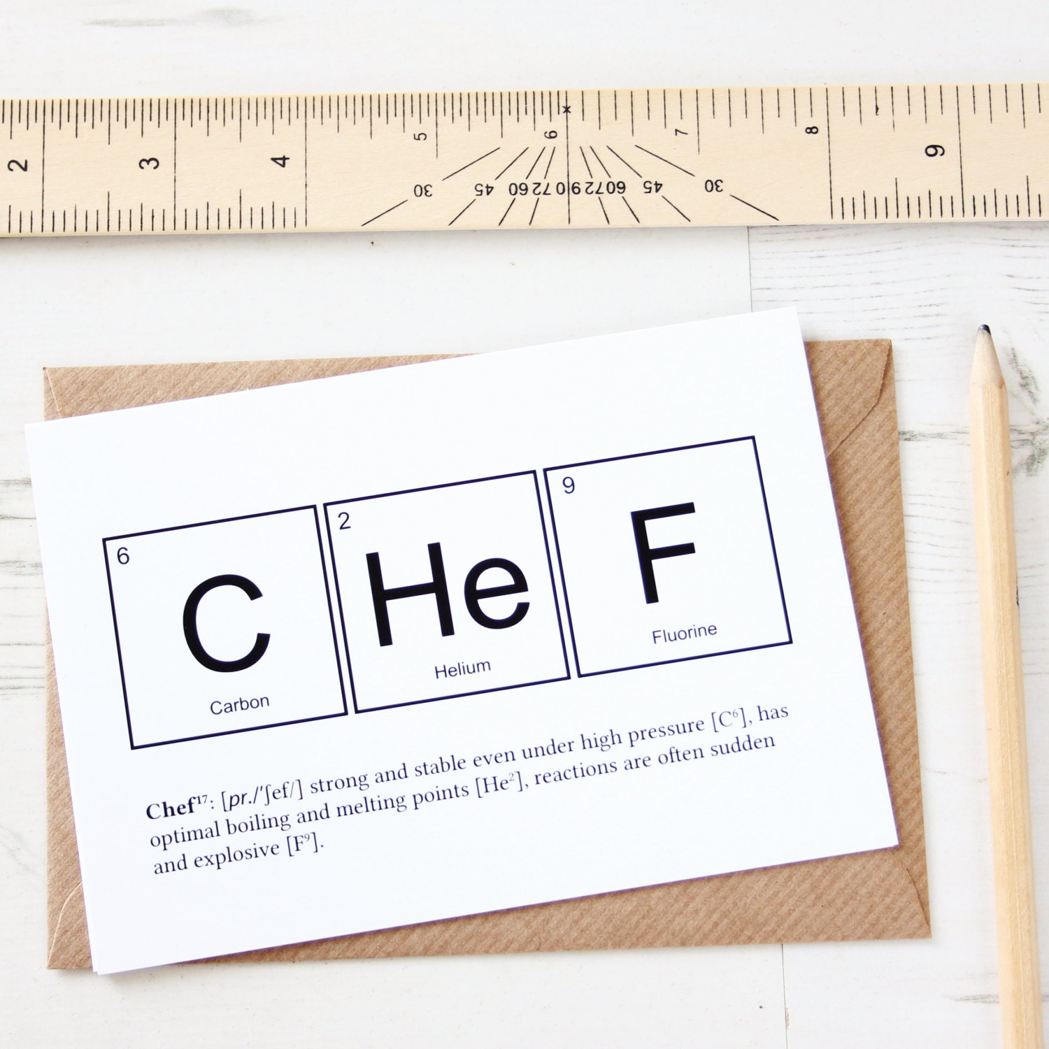 Funny chef elements card periodic table greeting zoom gamestrikefo Gallery