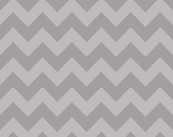 Gray Tone on Tone Medium Chevron by Riley Blake Designs - Quilting Cotton Fabric - choose your cut