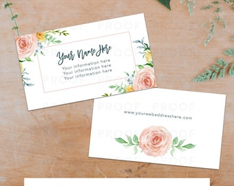 Floral Business Card Template - Front and Back