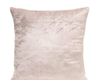 Silver Velvet Pillow Cover Silver Pillow Minimalist Pillow Velvet Throw Pillow Silver Euro Sham Modern Decor Silver Lumbar Pillow