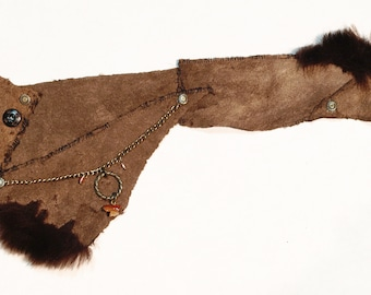 Steampunk Bracer (arm-guard) Beaver leather