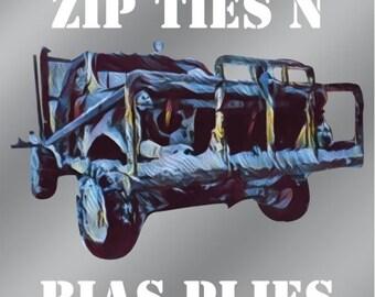 Zip Ties N Bias Plies Truck/Car Decals (SlaveLake)