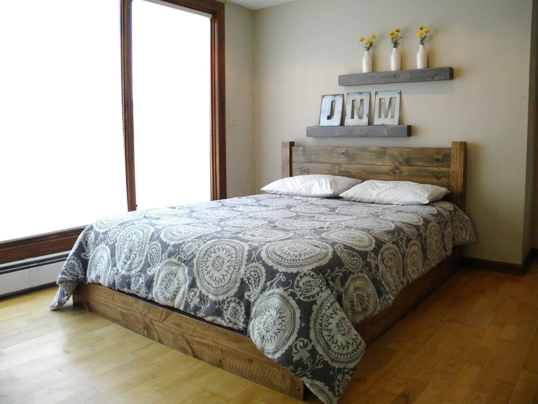 Platform Bed Headboard Bed Frame Beds Twin Full Queen